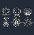 set marine badges vector image vector image