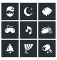 Set of Sleep and Rest Icons Man Night vector image vector image