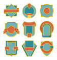 set retro vintage badges badge flat vector image