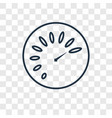 speedometer concept linear icon isolated on vector image