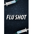 vaccination get your flu shot medical poster vector image