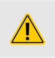 warning - icon warning yellow sign on gray vector image vector image
