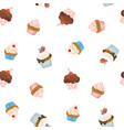 watercolor sweets pattern vector image vector image