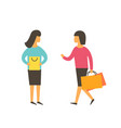 women making shopping together friend people vector image vector image