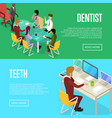 corporate office life isometric 3d posters vector image