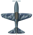 War plane aerial view vector image