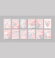 a set modern minimalist postcards about love vector image vector image