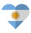 Argentina flat heart flag vector image vector image