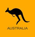 Australian kangaroo vector image vector image