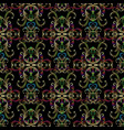 baroque embroidery seamless pattern black vector image vector image