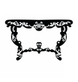 Baroque Rich table vector image vector image