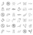 bear icons set outline style vector image vector image