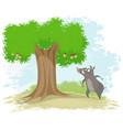 boar oak and corns vector image vector image