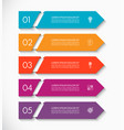business infographic arrow template with 5 options vector image vector image