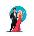 celebrity couple on event vector image