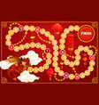 child board game with chinese new year symbols vector image