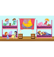 Children sleeping in bedroom vector image vector image