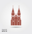 church of our lady before tyn - the symbol of vector image vector image