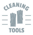 cleaning tools logo simple gray style vector image vector image