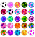 colorful ball set vector image vector image