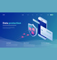concepts mobile payments data protection vector image vector image