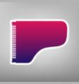 concert grand piano sign purple gradient vector image vector image