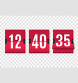 countdown timer with numbers isolated vector image