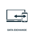 data exchange icon symbol creative sign from seo vector image