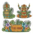 design hawaii tiki mask or idol ethnic totem vector image vector image