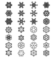 different black snowflakes vector image