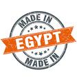 Egypt orange grunge ribbon stamp on white vector image vector image