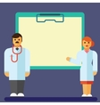Flat icon of Clipboard with doctor and vector image