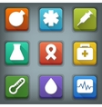 Flat icon set White Symbols Medical vector image