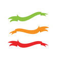 flat ribbons banners flat isolated on white vector image vector image