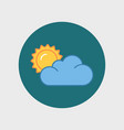 flat sun and cloud weather web icon vector image vector image