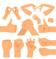 funny hand gestures set vector image vector image