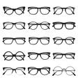 Glasses frame set vector image vector image