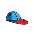 grated cap fashion style object design vector image vector image