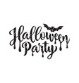 halloween party poster hand drawn lettering vector image vector image