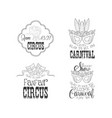 hand drawn logos for circus or carnival vector image vector image