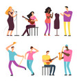 happy people of art and music professional vector image vector image