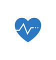 heartbeat ratev related glyph icon vector image vector image