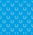 horseshoe pattern seamless blue vector image vector image