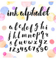 ink letters set vector image vector image