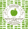 Jam label design template for apple dessert vector image
