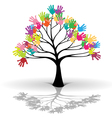 Kids tree vector image vector image