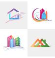 logo template real estate apartment condo house vector image vector image