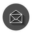 mail envelope icon email flat e-mail business vector image vector image