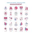 management icon dusky flat color - vintage 25 vector image