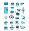 medical service and pharmacy icons lettering vector image